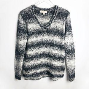 Michael Kors   Ombré Striped V-Neck Sweater Size S